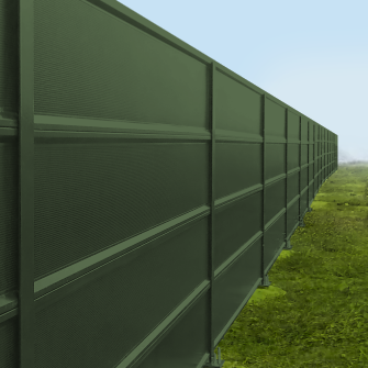 Acoustic Barriers | panacor steel acoustic barrier